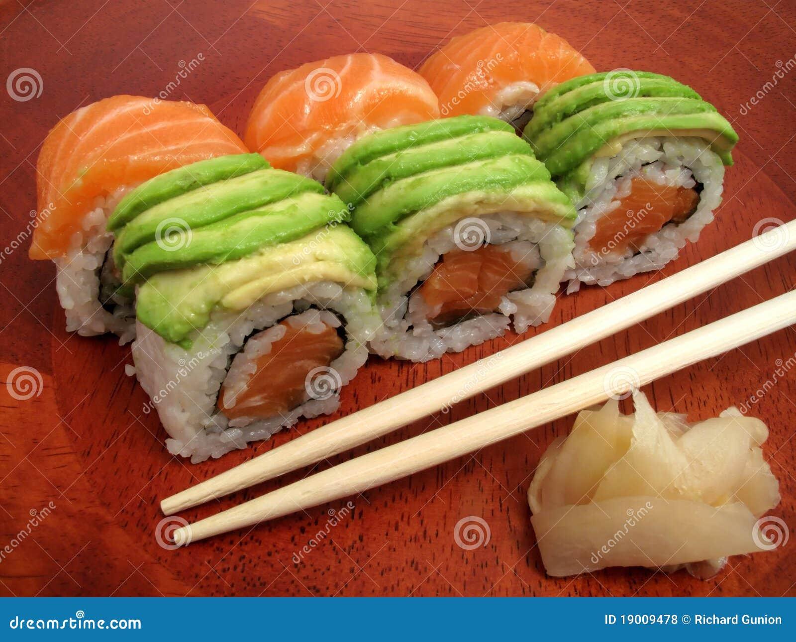 Repas japonais de sushi photo stock image du nourriture for Poisson japonais nourriture