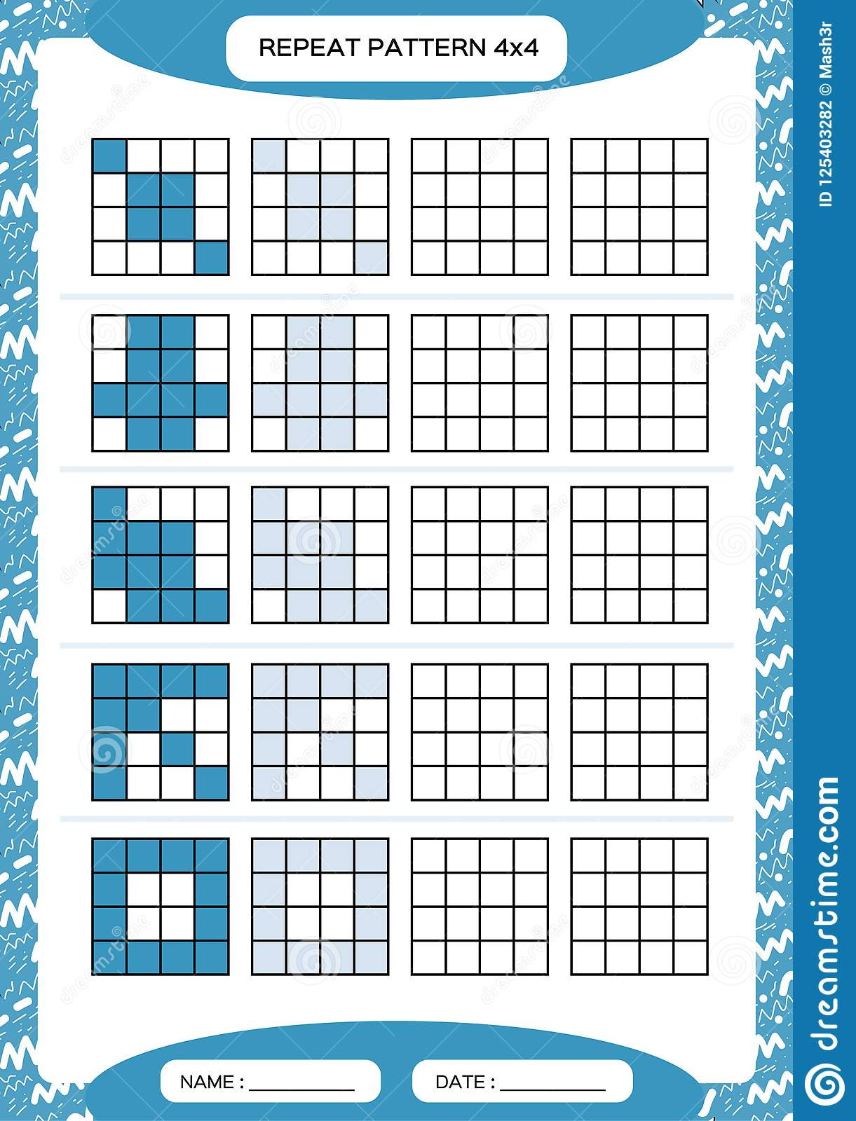 Repeat blue pattern cube grid with squares special for preschool download repeat blue pattern cube grid with squares special for preschool kids worksheet ibookread ePUb