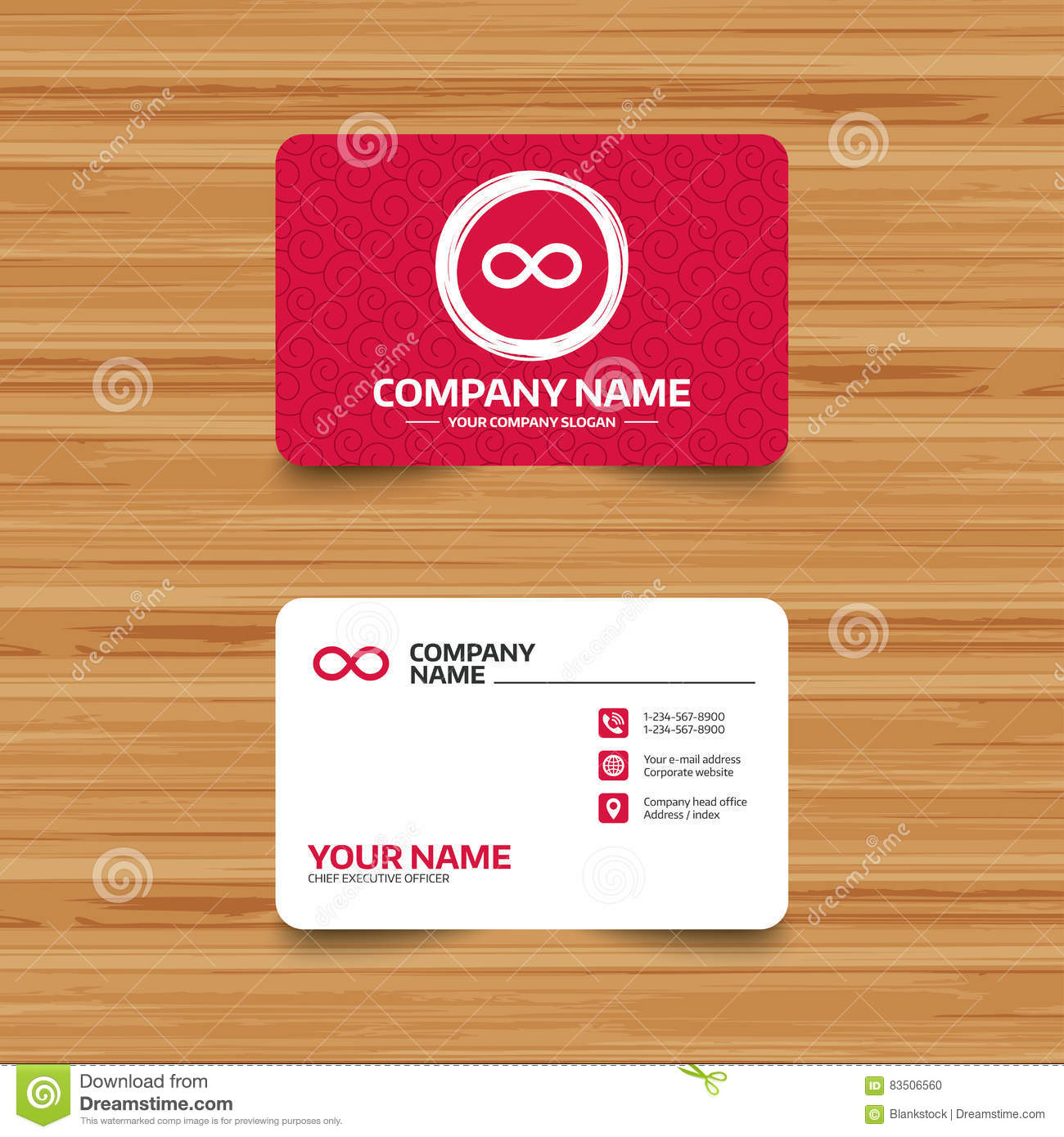 Repeat Icon Loop Symbol Infinity Sign Stock Vector Illustration