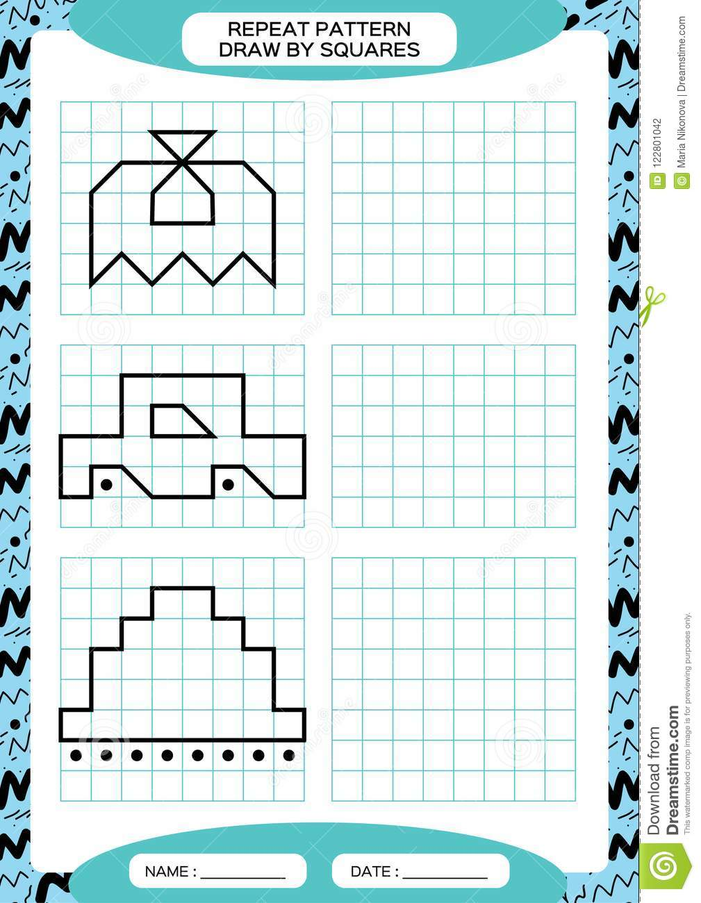 repeat pattern tracing lines activity special for preschool kids worksheet for practicing. Black Bedroom Furniture Sets. Home Design Ideas