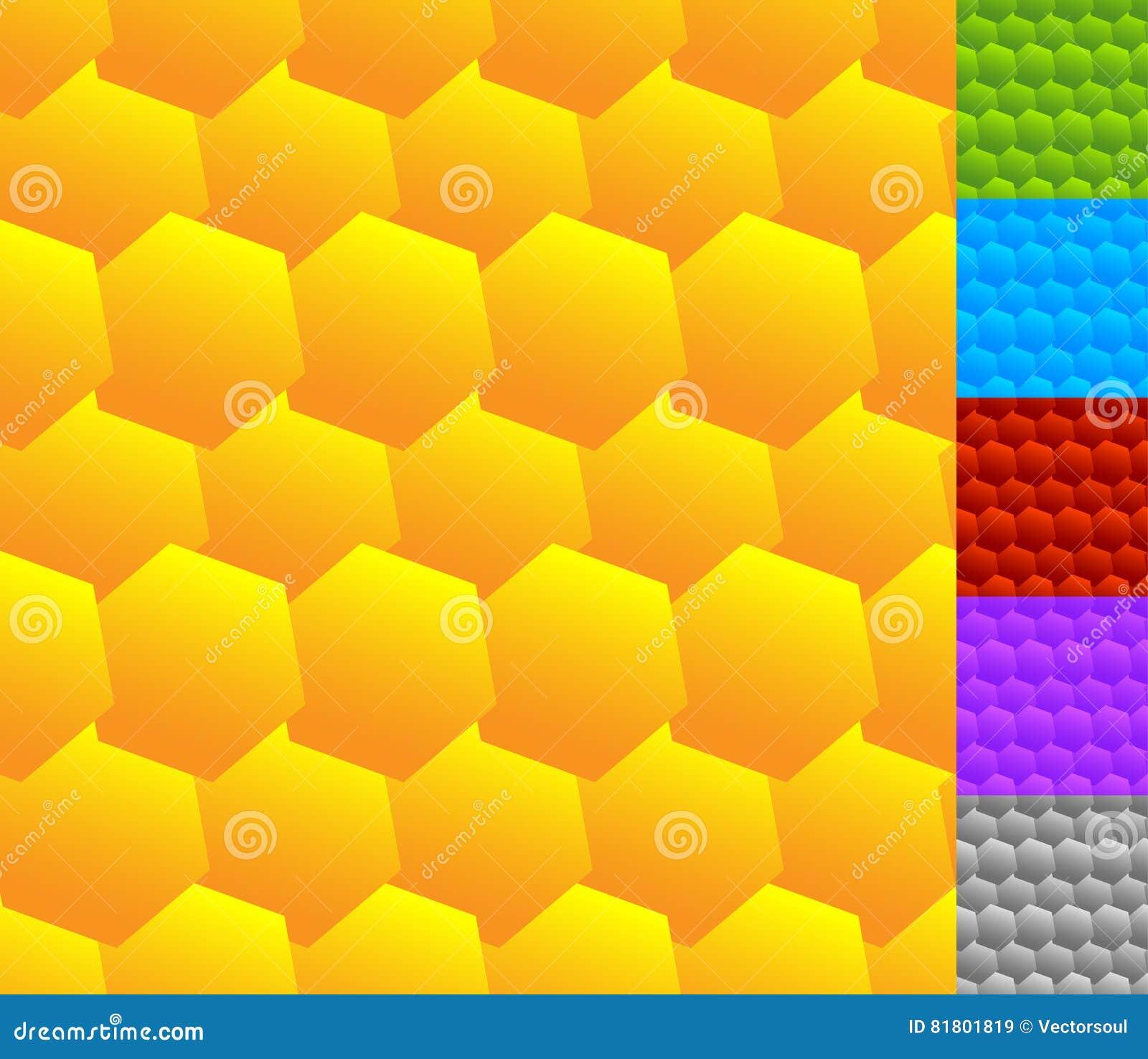 Repeatable безшовная картина с опрокинутыми, перекрытыми шестиугольниками g