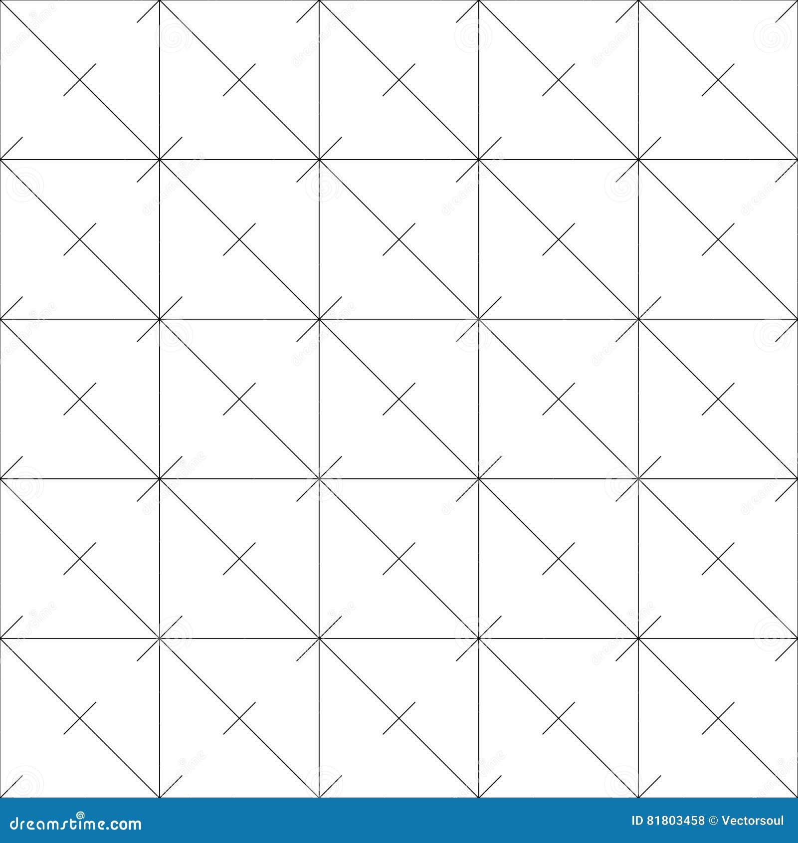 Repeatable детальная решетка, картина сетки Черно-белая версия