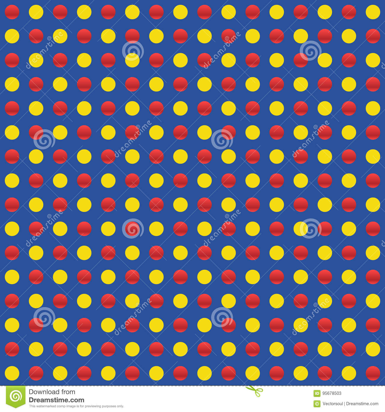 Repeatable circles, dots pattern. Colorful / multicolor texture
