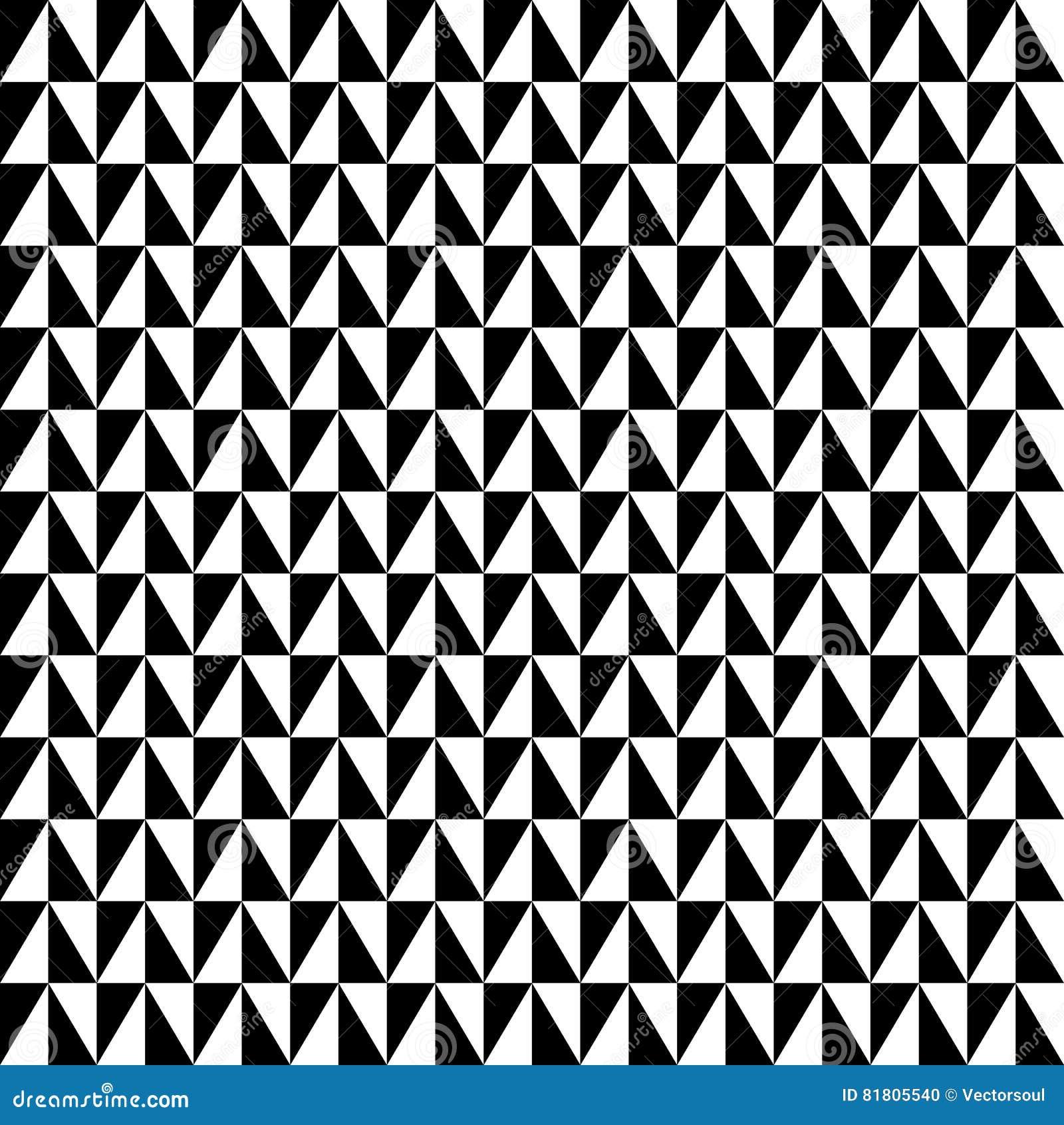 Repeatable contrasty геометрическая картина Мозаика треугольников с