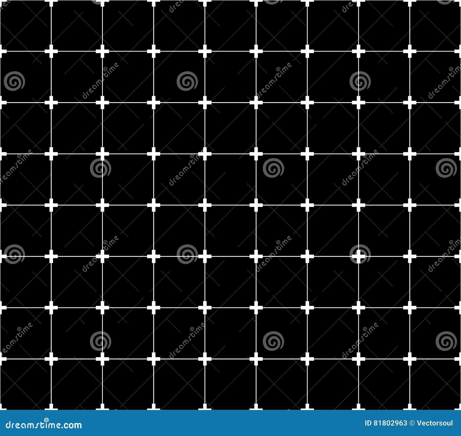 Repeatable monochrome решетка, сетка с крестами на пересечениях