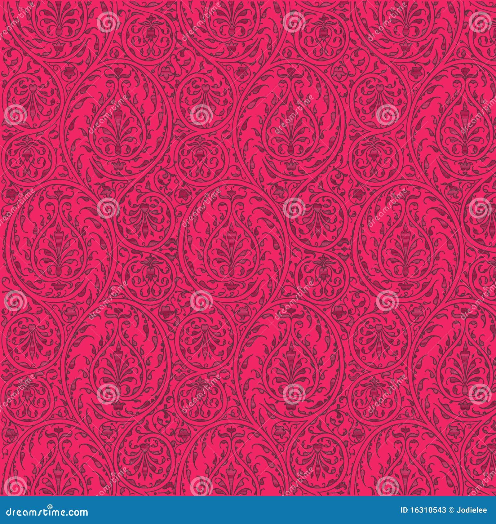hot pink paisley background - photo #3