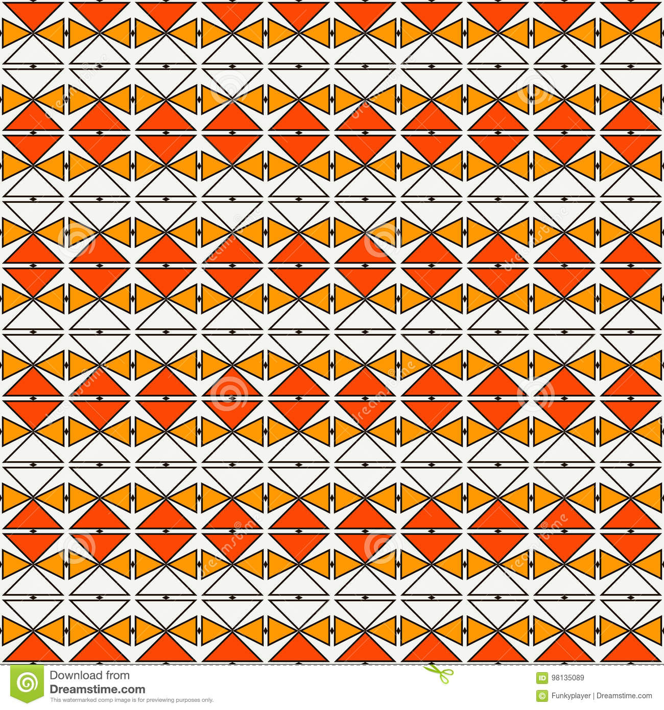Repeated Diamonds And Lines Background African Style Ethnic