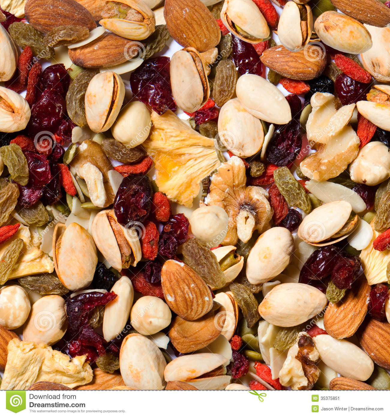 healthy fruit and nut slice aggregate fruit