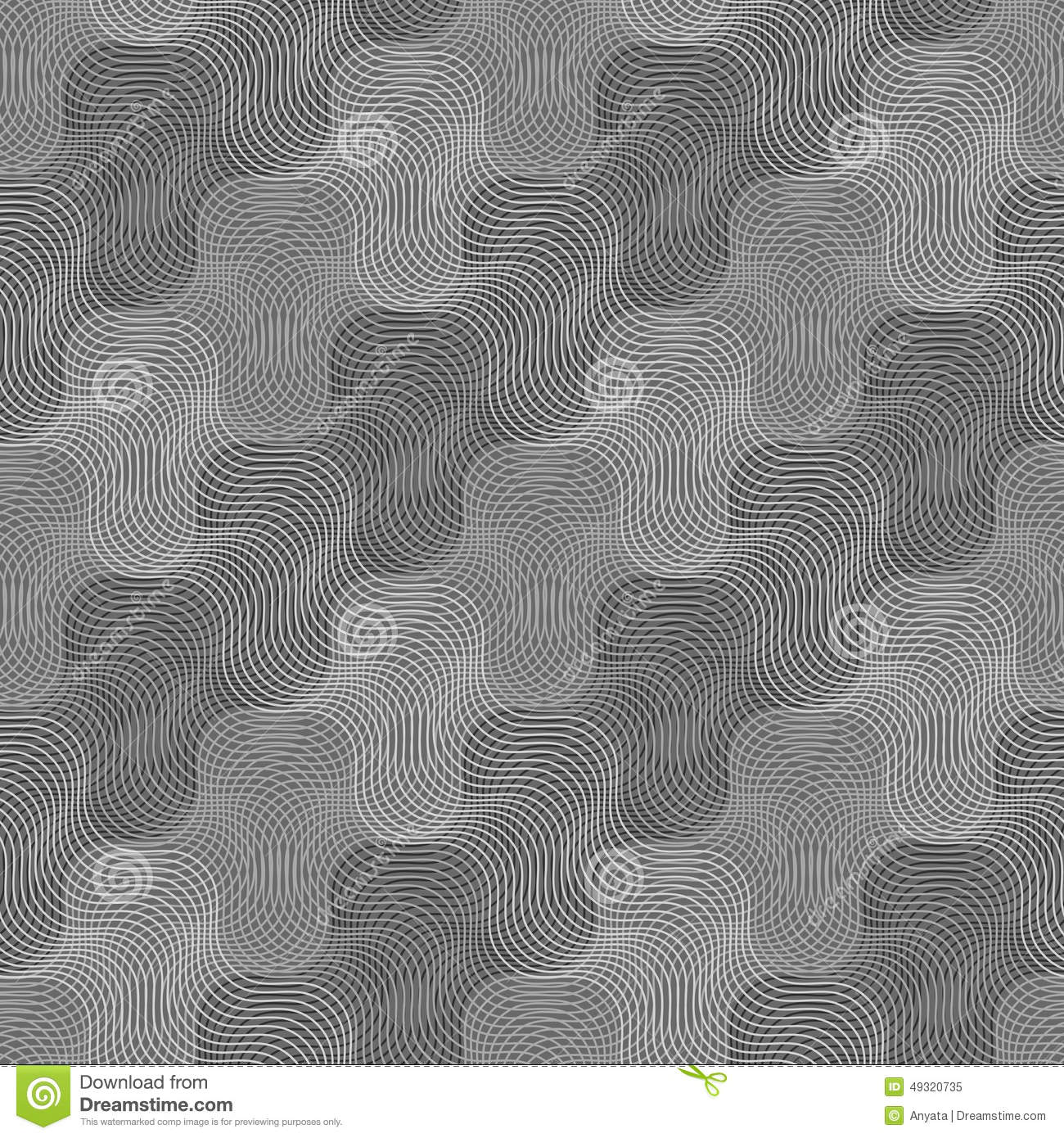 Repeating Ornament Intersecting Light And Dark Gray