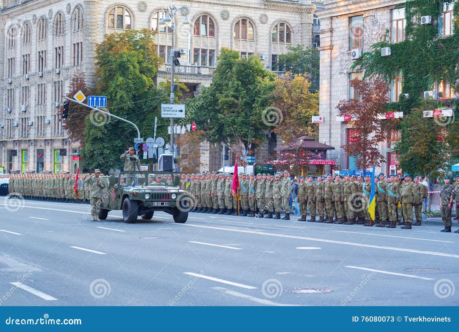 Repetitiion militaire de défilé