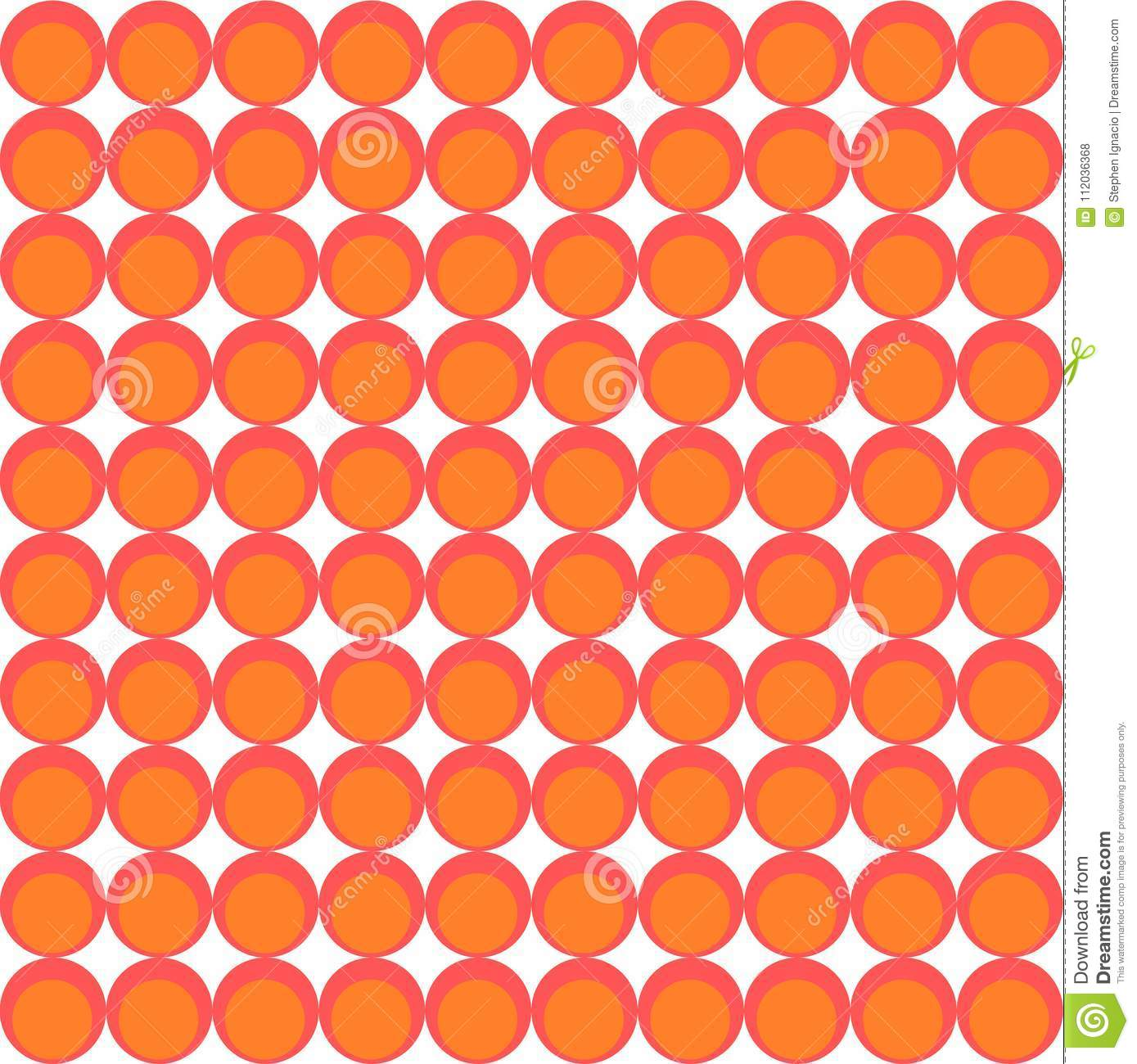 Wallpaper Pattern Made From Circles Stock Illustration