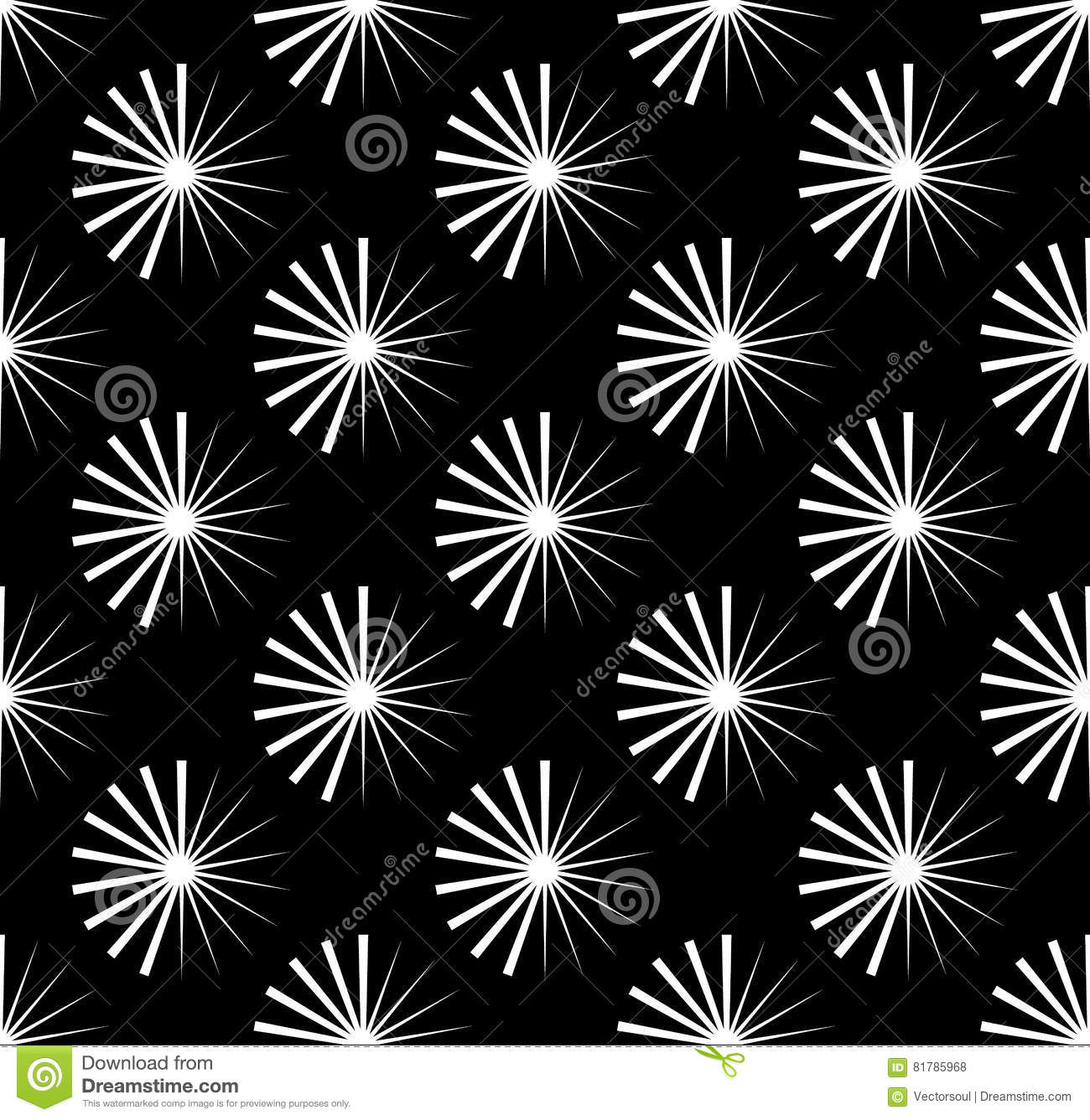 Repetitive pattern with radial-radiating lines. Abstract geometr