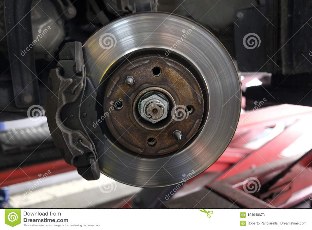 Replacement Of Disc Brakes Stock Image Disk 104940673 Download