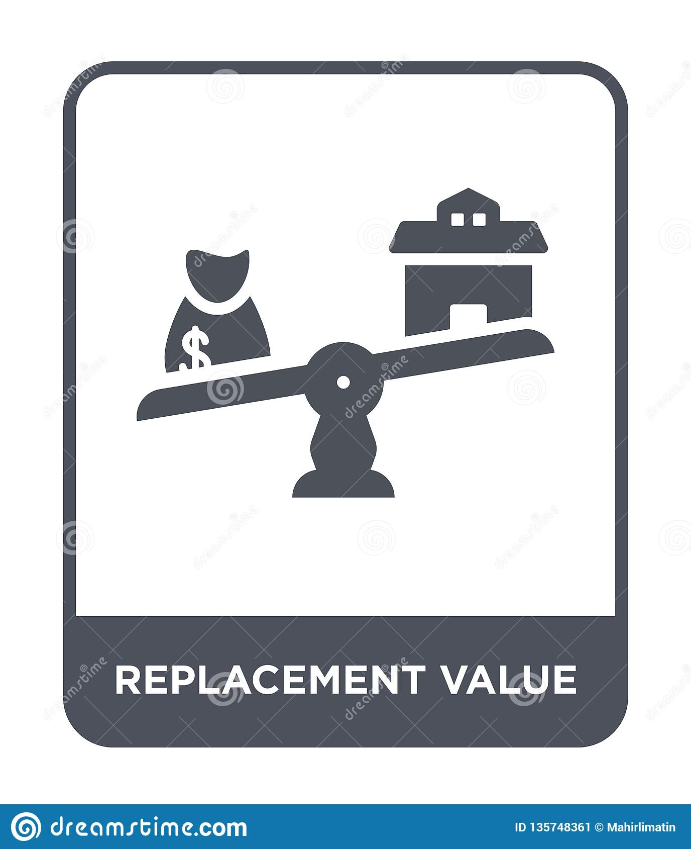 replacement value icon in trendy design style. replacement value icon isolated on white background. replacement value vector icon