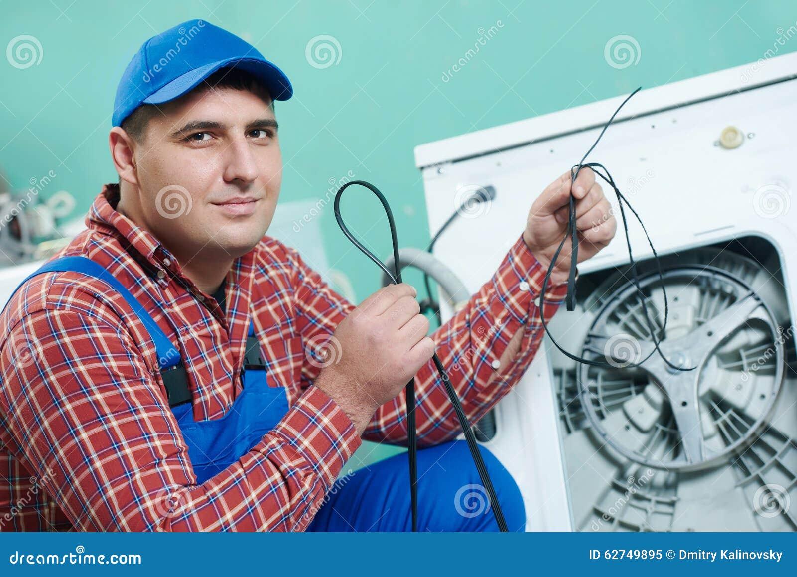 Replacing rubber drive belt of washing machine