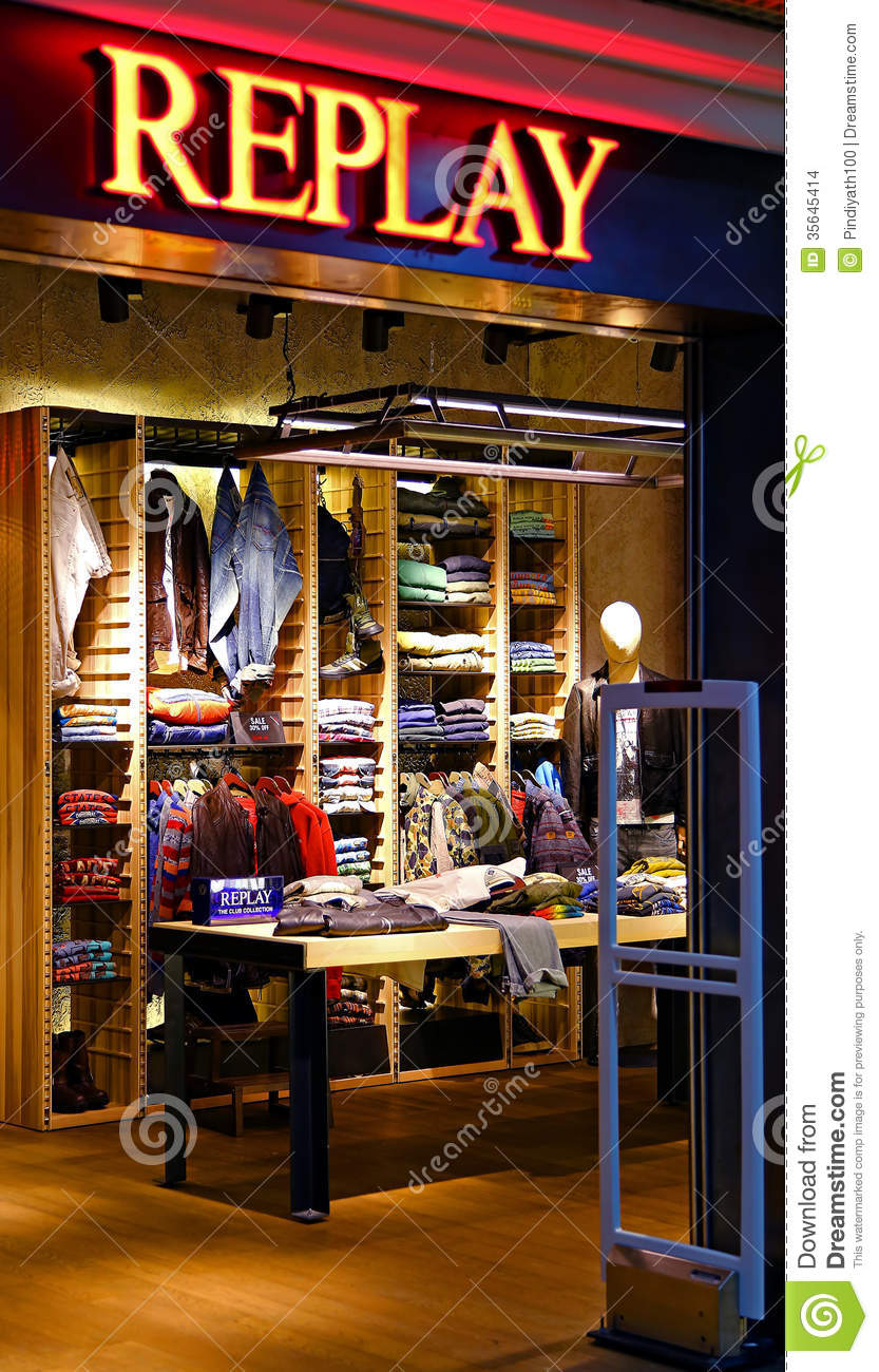 Replay Jeans Outlet Hong Kong Editorial Stock Image ...