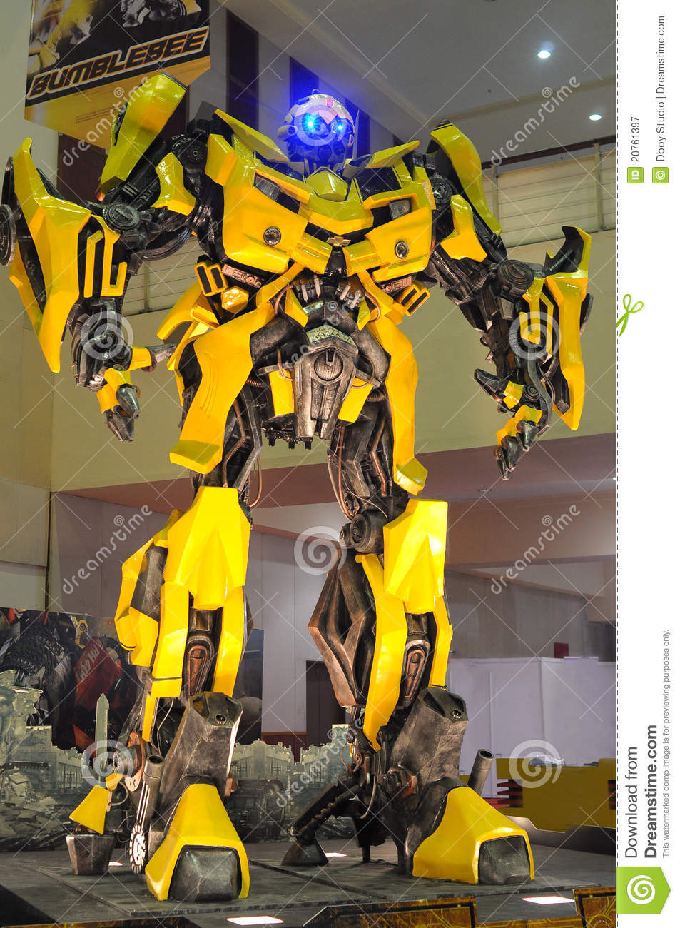 Replica Of Bumblebee From Transformers Were Displa