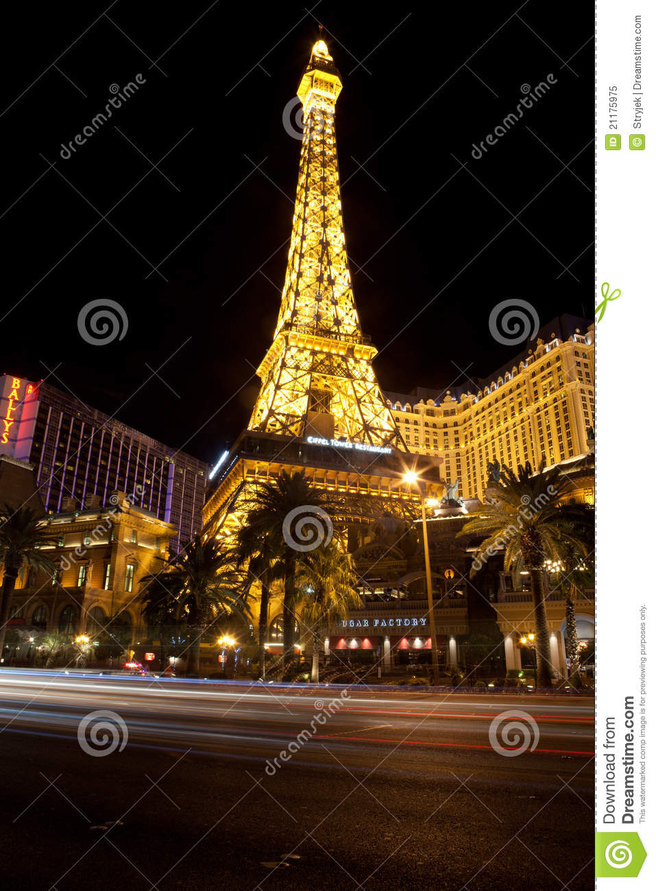 replica of eiffel tower at the paris hotel editorial image image