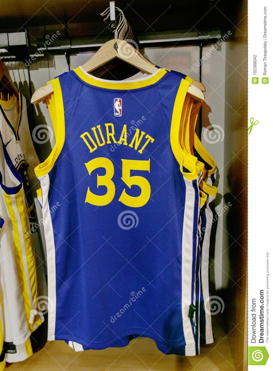 2af8a1bb356 ... order new york october 20 2017 replica jersey of kevin durant of golden  state warriors on