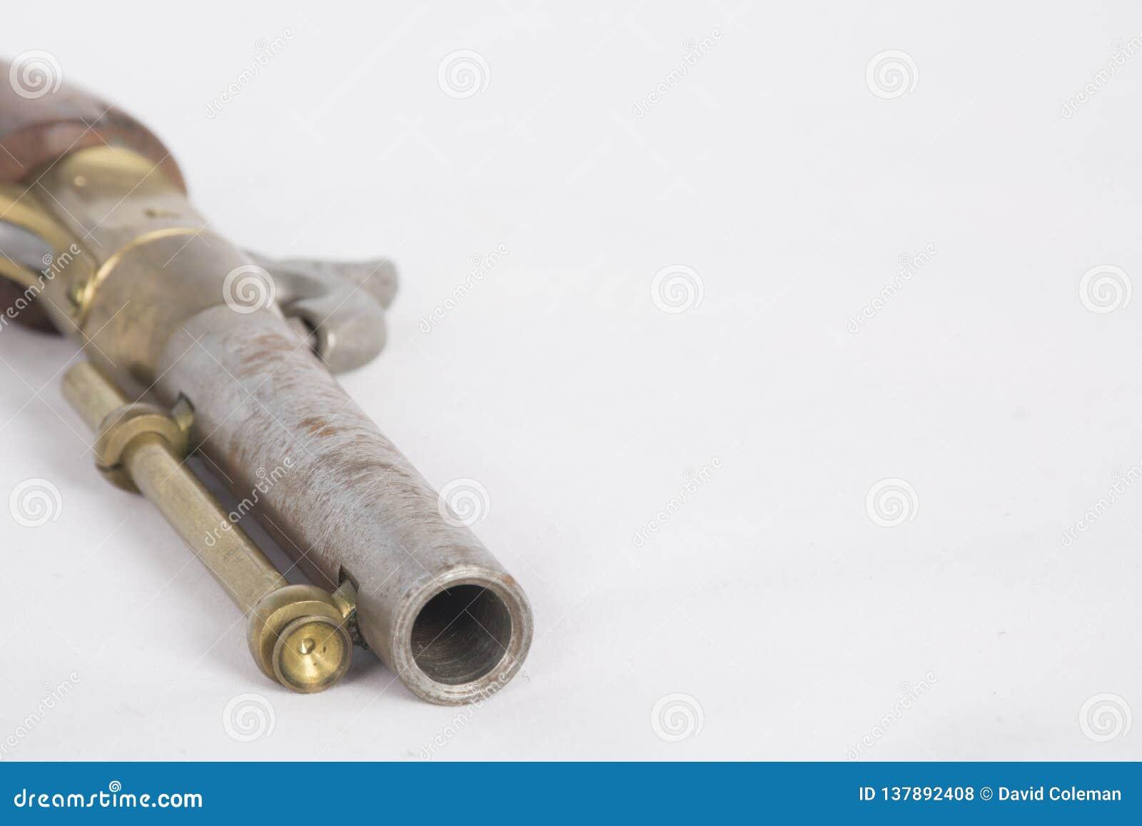 Old Fashioned Black Powder Pistol Stock Photo - Image of