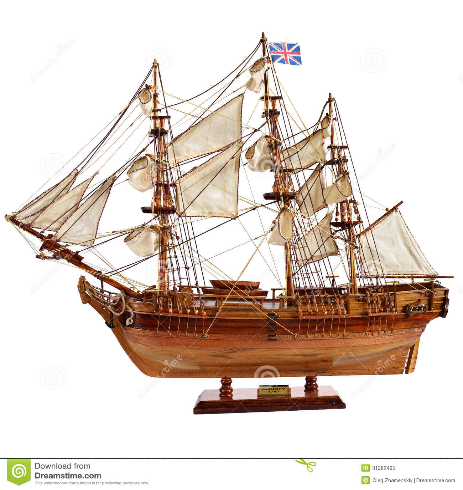 Replica Of The Old Sailfish Bounty Stock Image - Image: 31282495