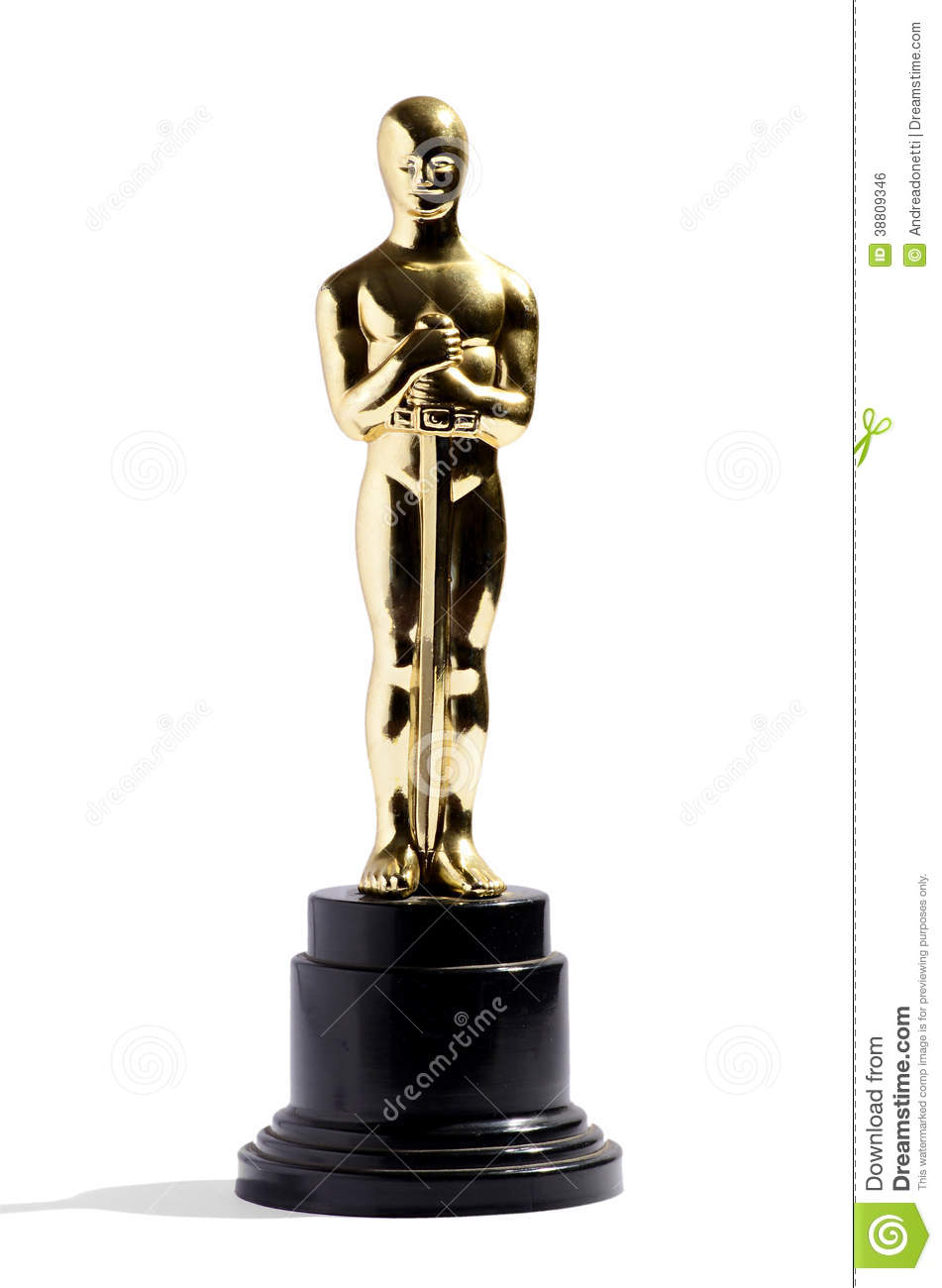 Royalty Free Stock Image Replica Oscar Award Golden Film Black Plinth Isolated White Vertical Format Image38809346 besides The First Oscar Statuette Won By Charlie Chaplin Has Been Stolen together with Academy Award For Best Documentary Short Subject i7953172 additionally Gold Triple Star Multisport Award 178mm 7 moreover Viewing party. on oscar award trophy