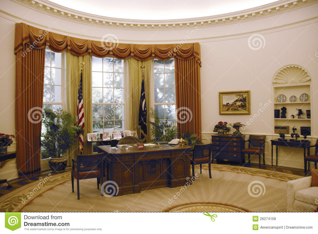 Obama Resolute Desk Replica Of The White House Oval Office Editorial Stock