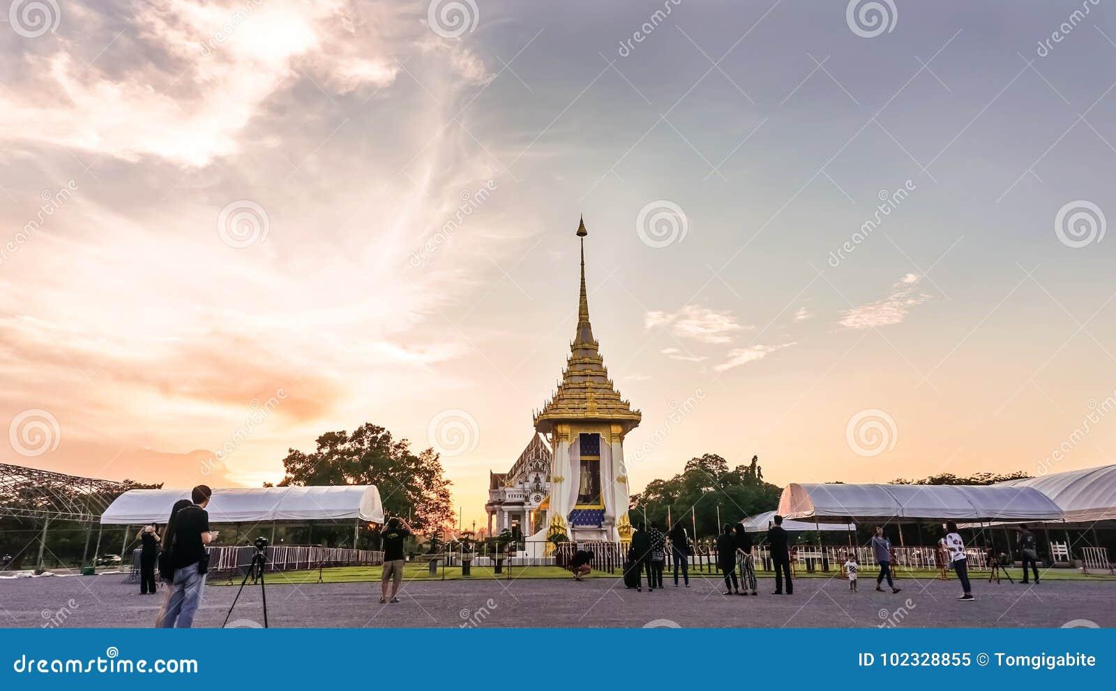 Replik des königlichen Krematoriums für Seine Majestäts-König Bhumibol Aduly