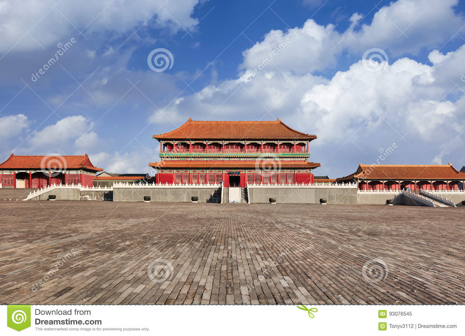 Replik des Pavillons der Verbotenen Stadt, Hengdian, China