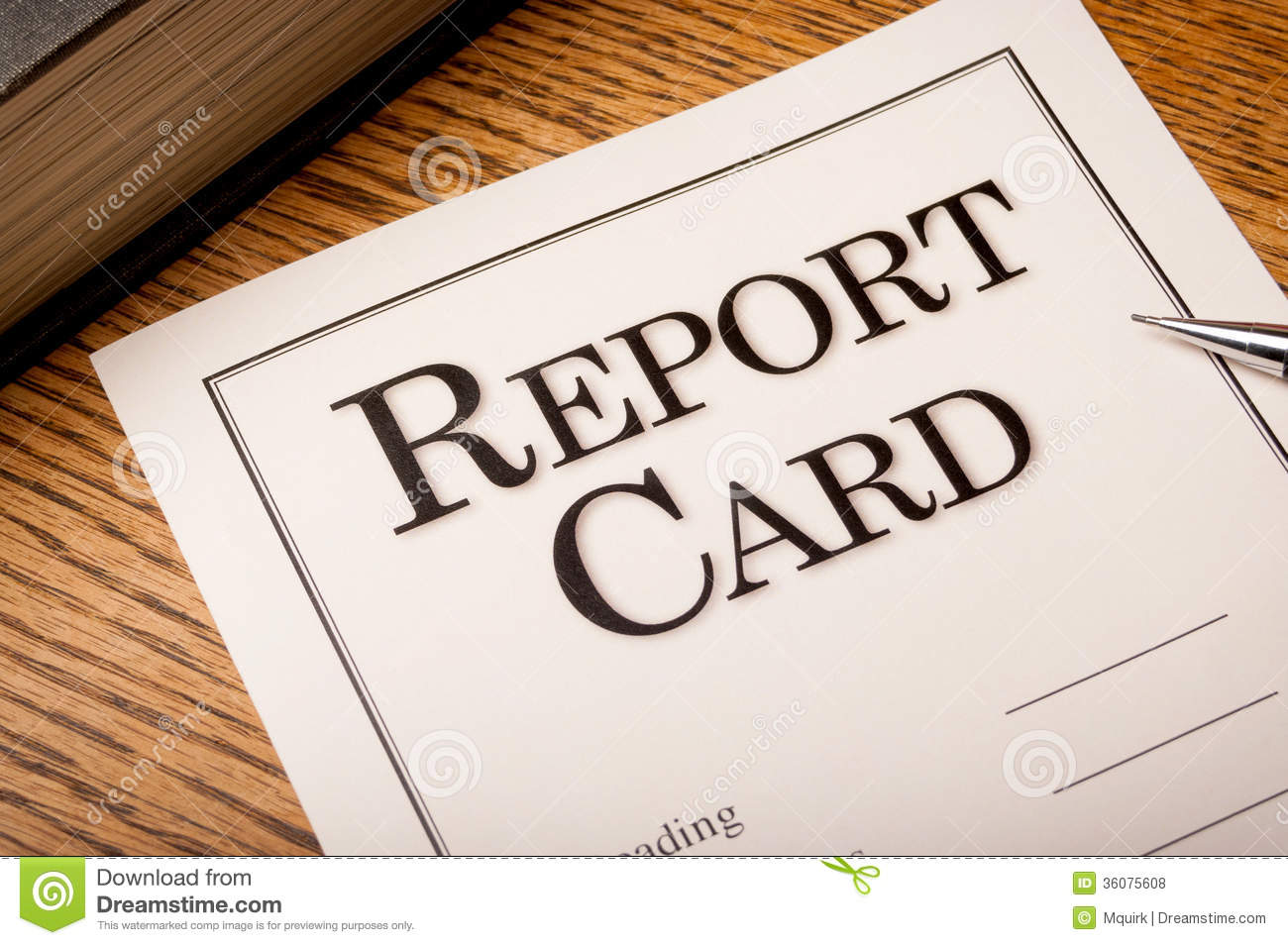 Report Card Stock Photo - Image: 45353042