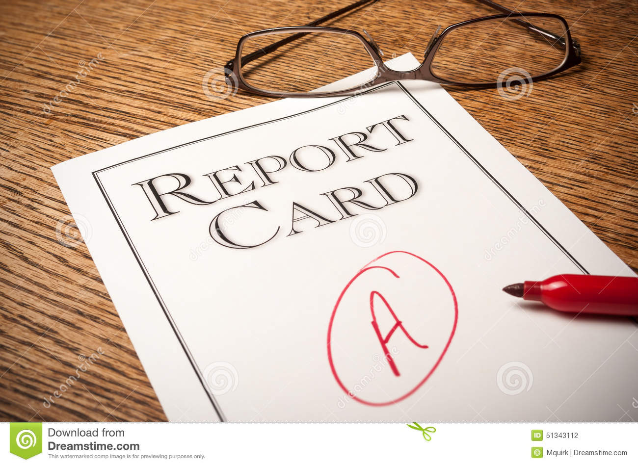 Report card on a desk stock photo. Image of fail, passing - 3