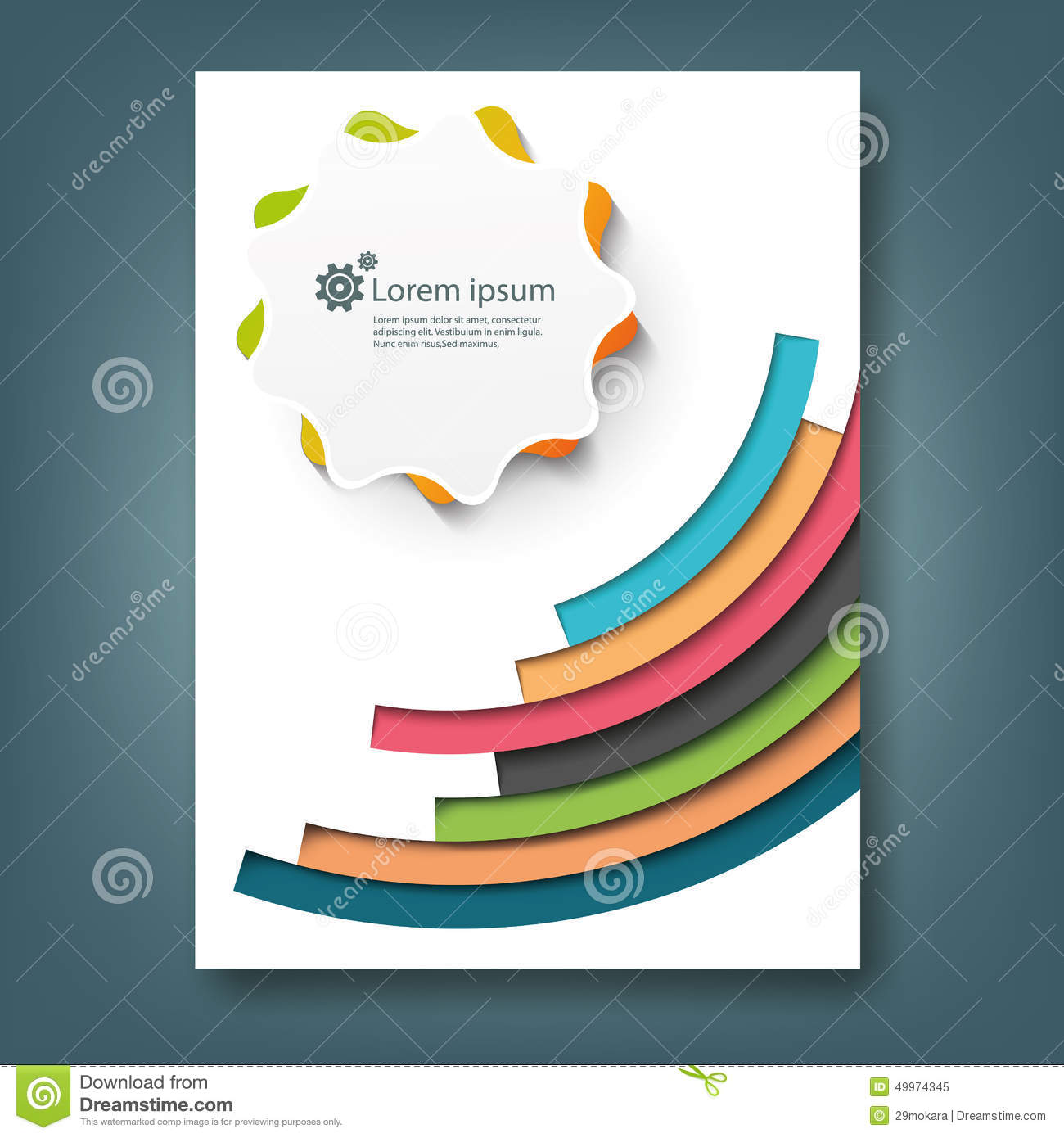 Book Cover Design Template Ks : Report and cover book template stock illustration