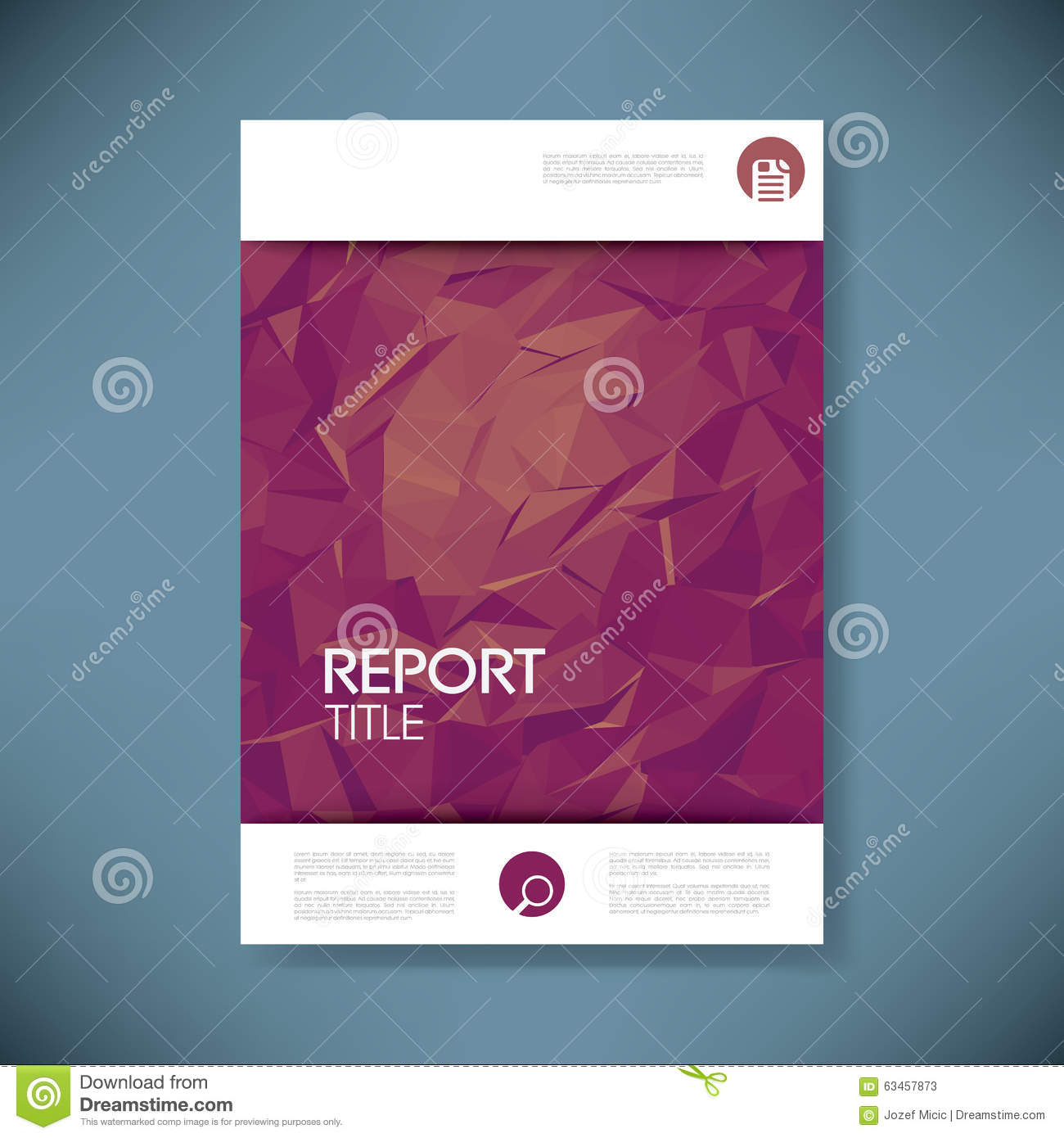 report cover template 3d low poly vector stock vector image report cover template 3d low poly vector