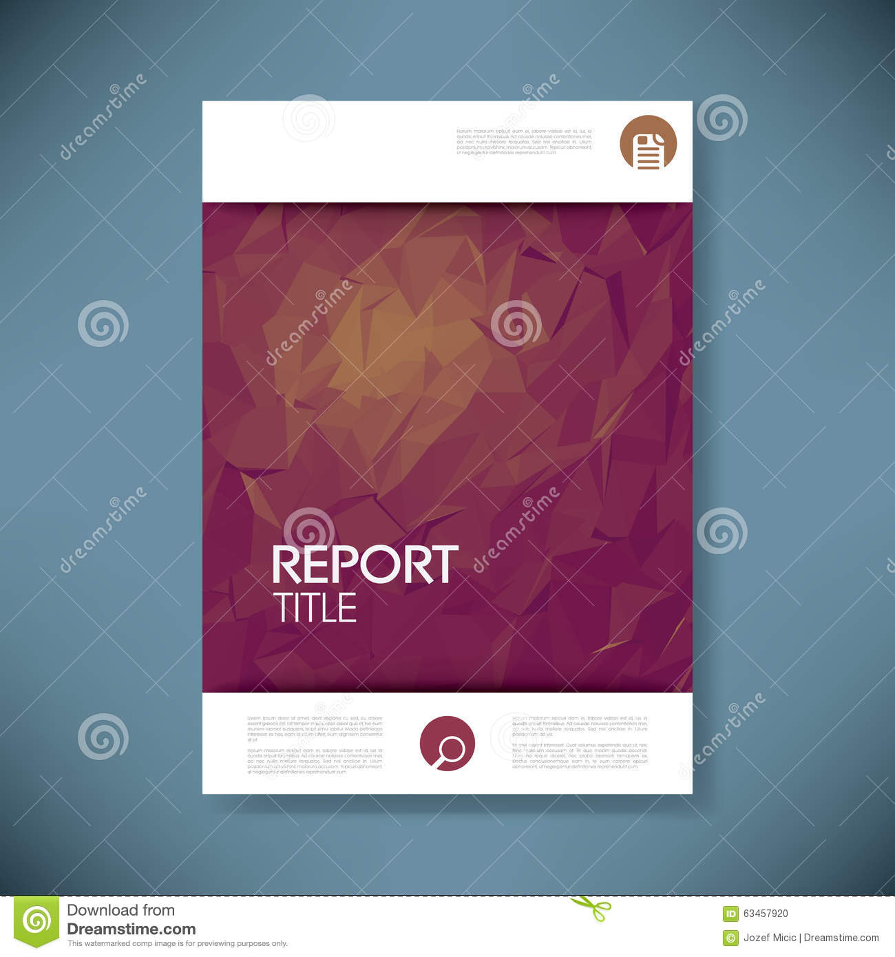 report cover template with 3d low poly vector stock vector, Low Poly Business Presentation Template, Presentation templates