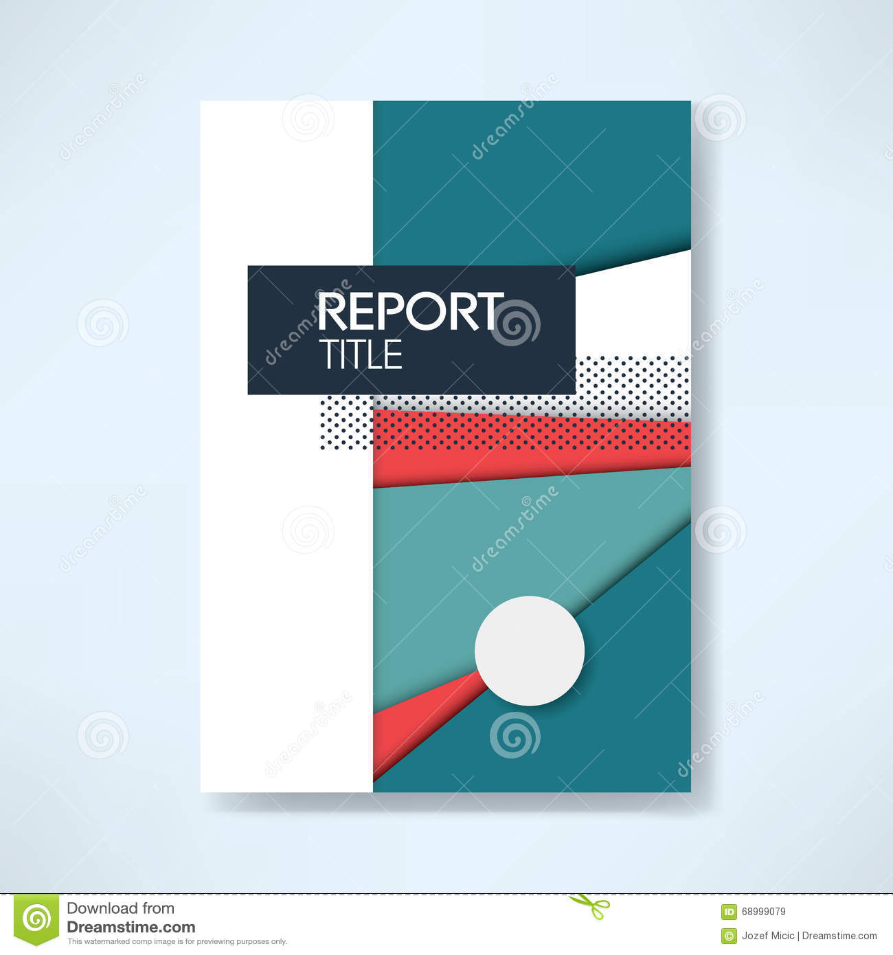 Annual Report Cover Template On Material Design Style Vector – Free Report Cover Templates