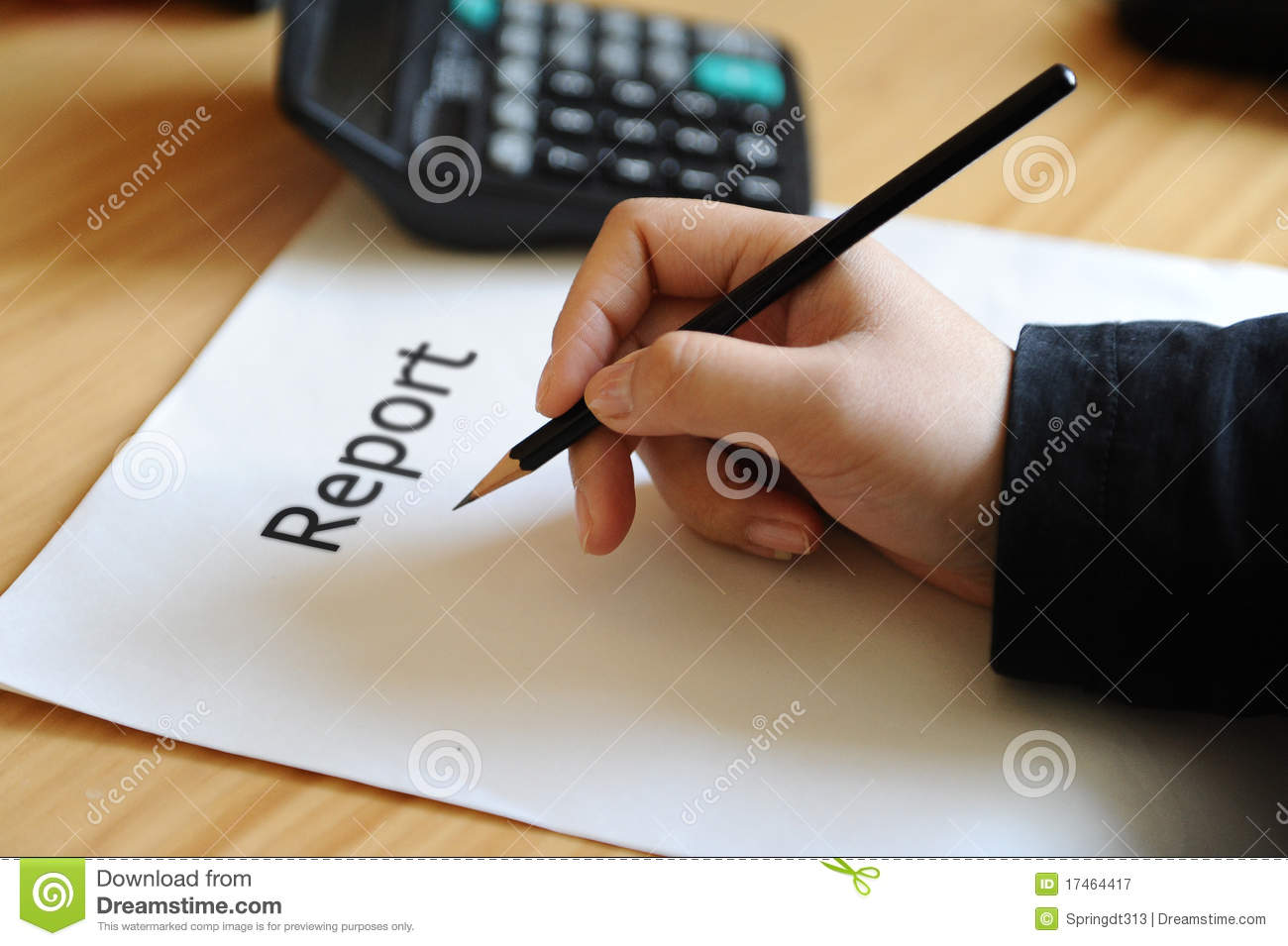 Report Write Royalty Free Stock Photography Image 17464417