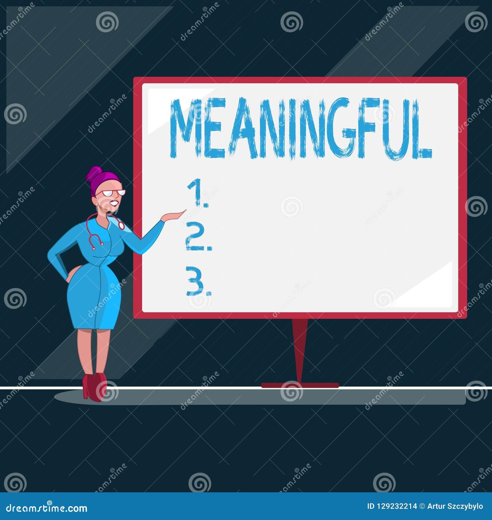 Représentation de note d écriture signicative Photo d affaires présentant ayant signifier utile important approprié significatif