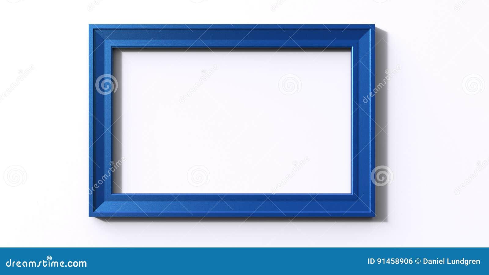 Representación 3d Del Bastidor Azul O De Foto De Color De La ...