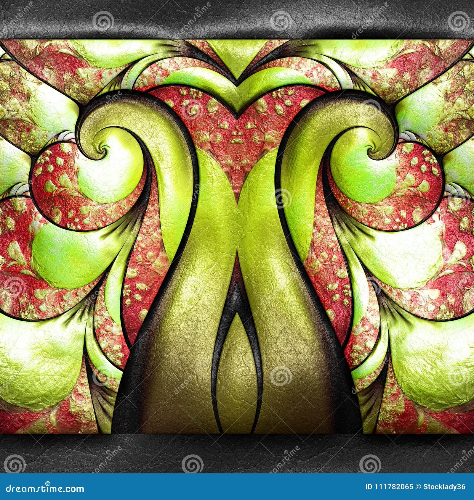 Representación 3D del fractal plástico en el cuero