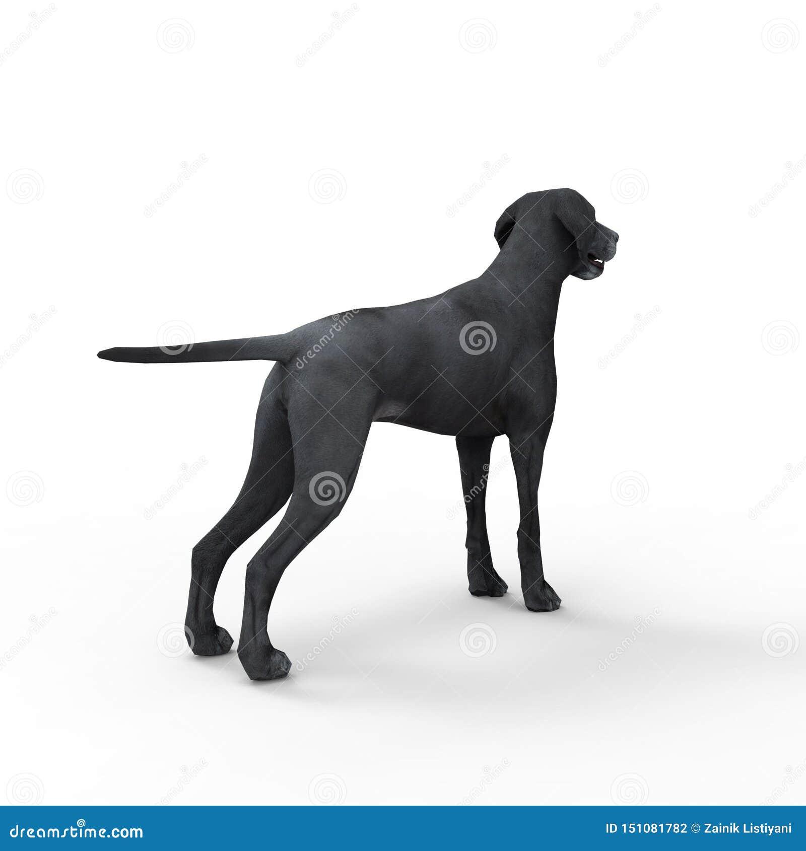 Representación 3d del perro creada usando una herramienta de la licuadora