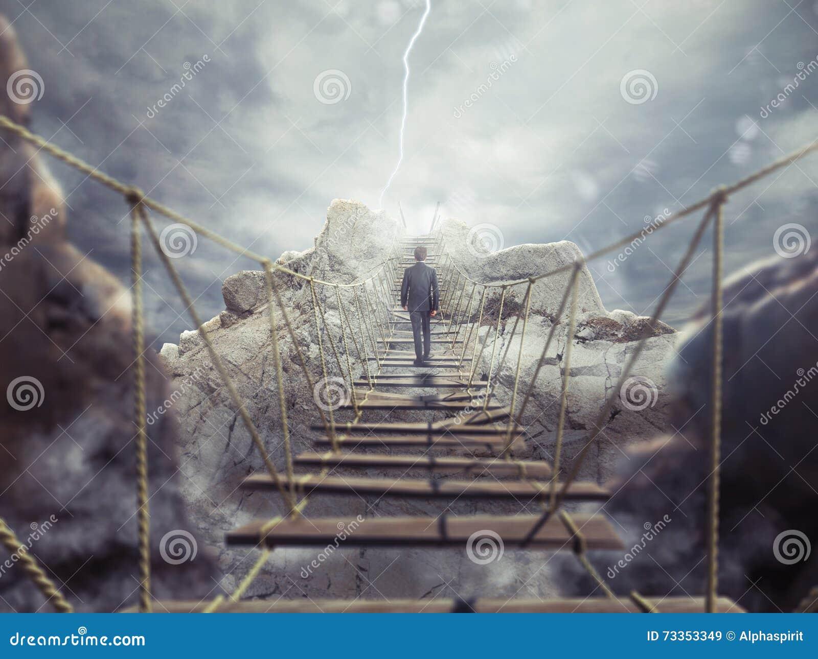 Representación 3D del puente inestable