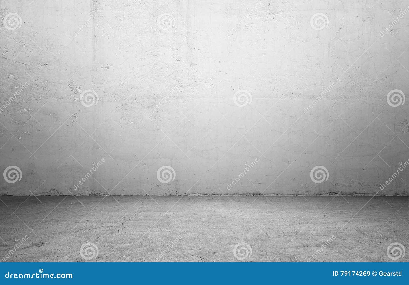 Representación del interior con el muro de cemento y el piso