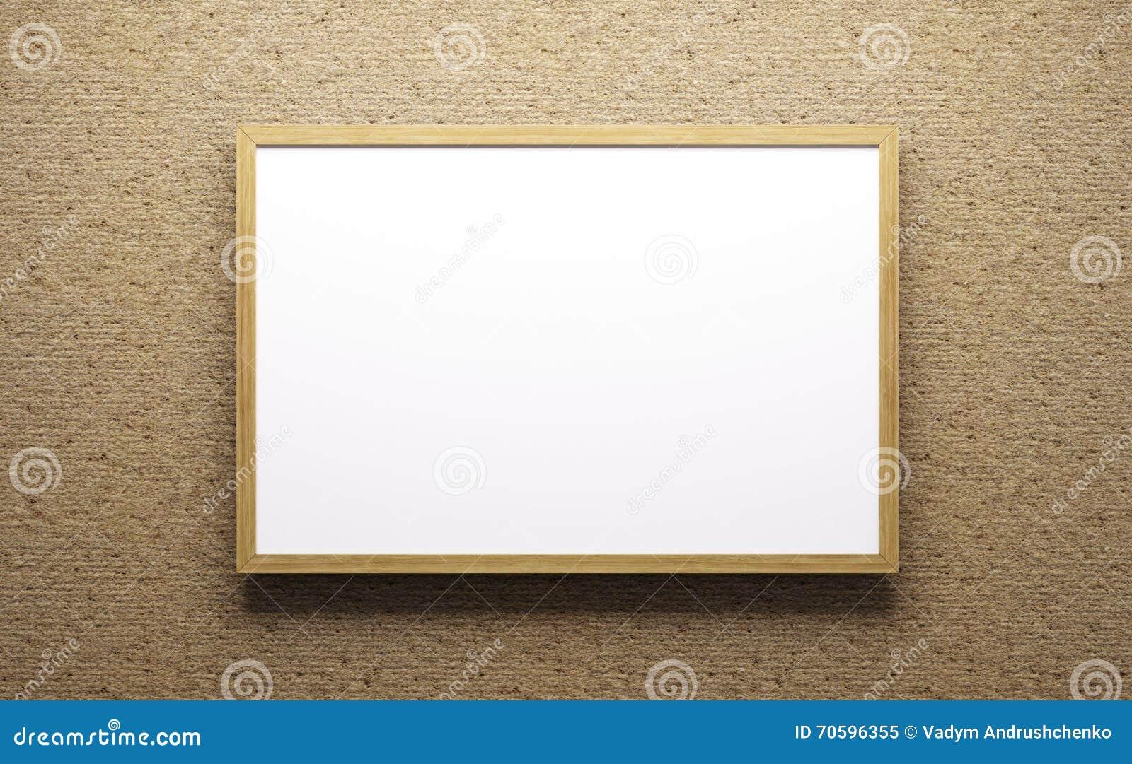 Representación del marco de madera 3d