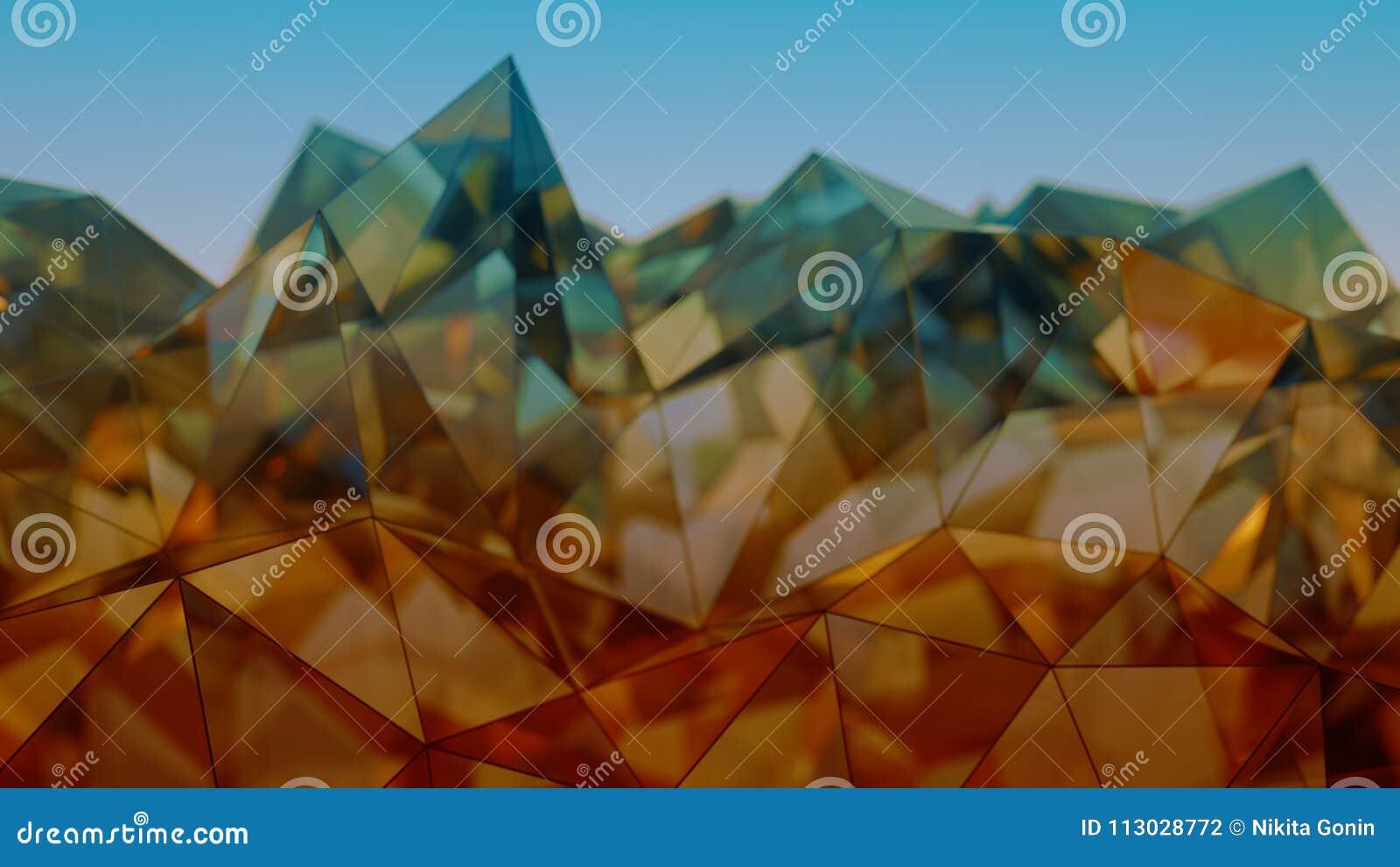 Representación moderna de la construcción 3D del vidrio y del acero con el DOF