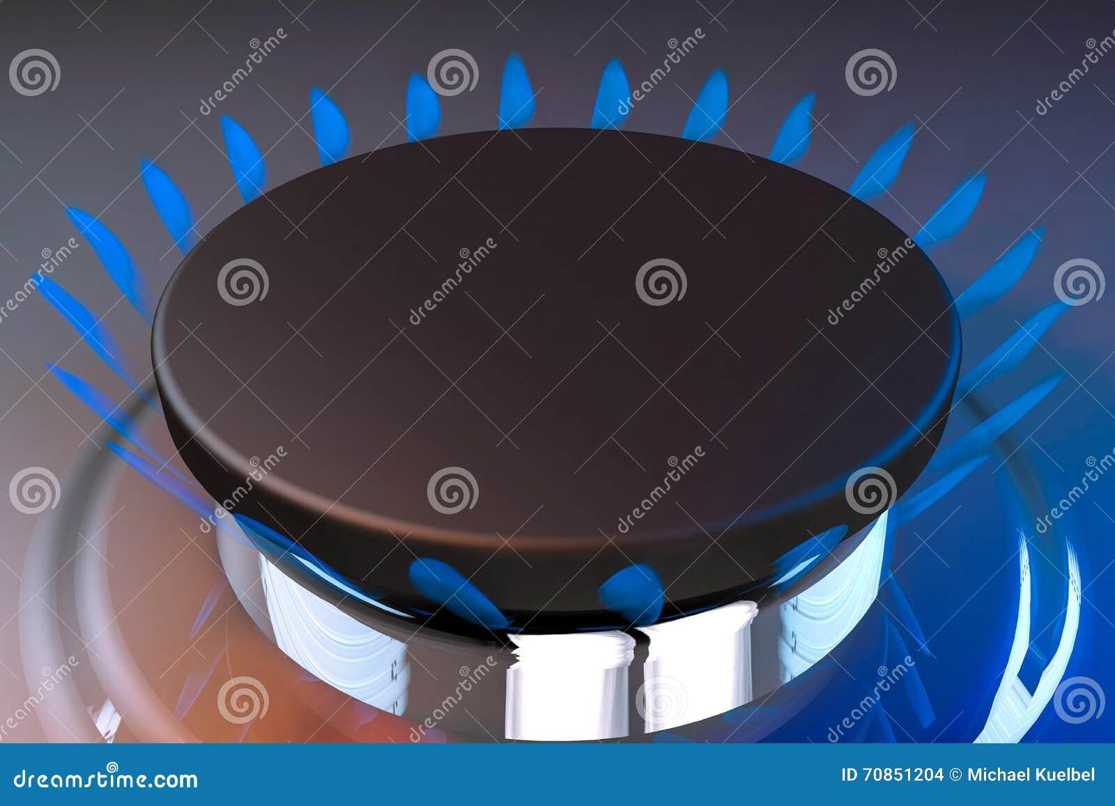 Representaci n del butano 3d del fuego del cocinero de la for Llama en la cocina