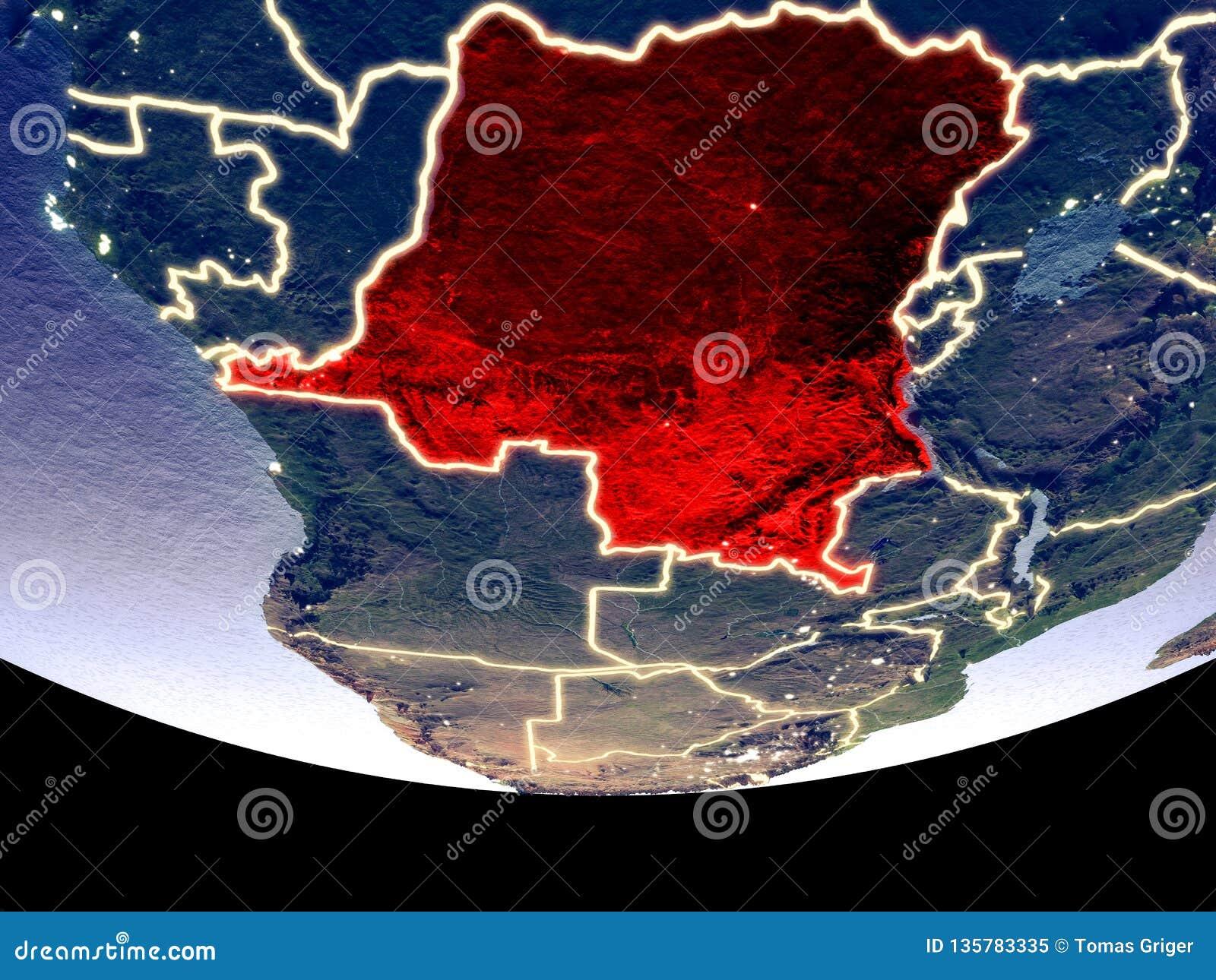 Representante del Dem de Congo en la noche del espacio
