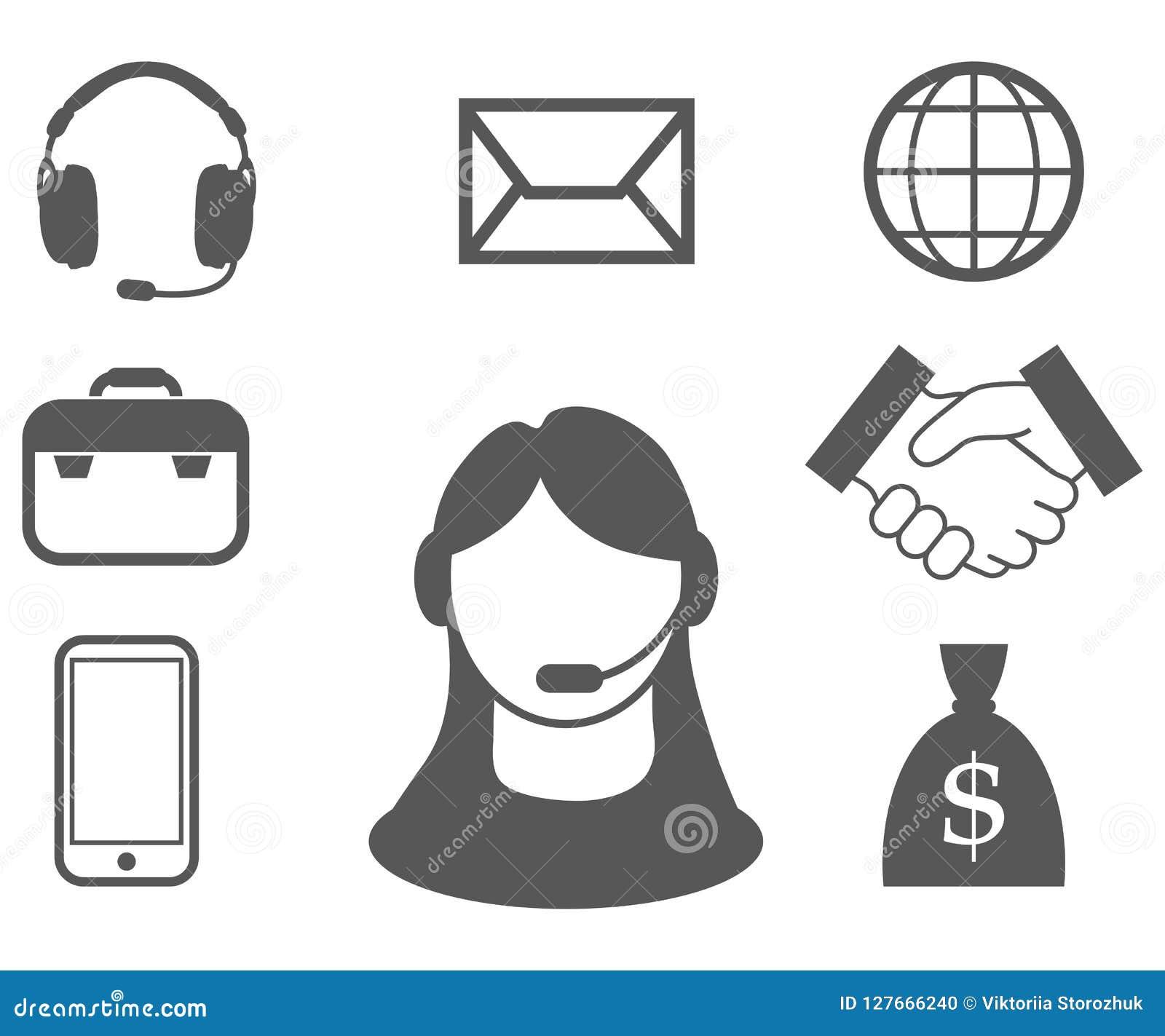 Representante/delegado de servicio de atención al cliente, centro de atención telefónica, icono del servicio de atención al clien