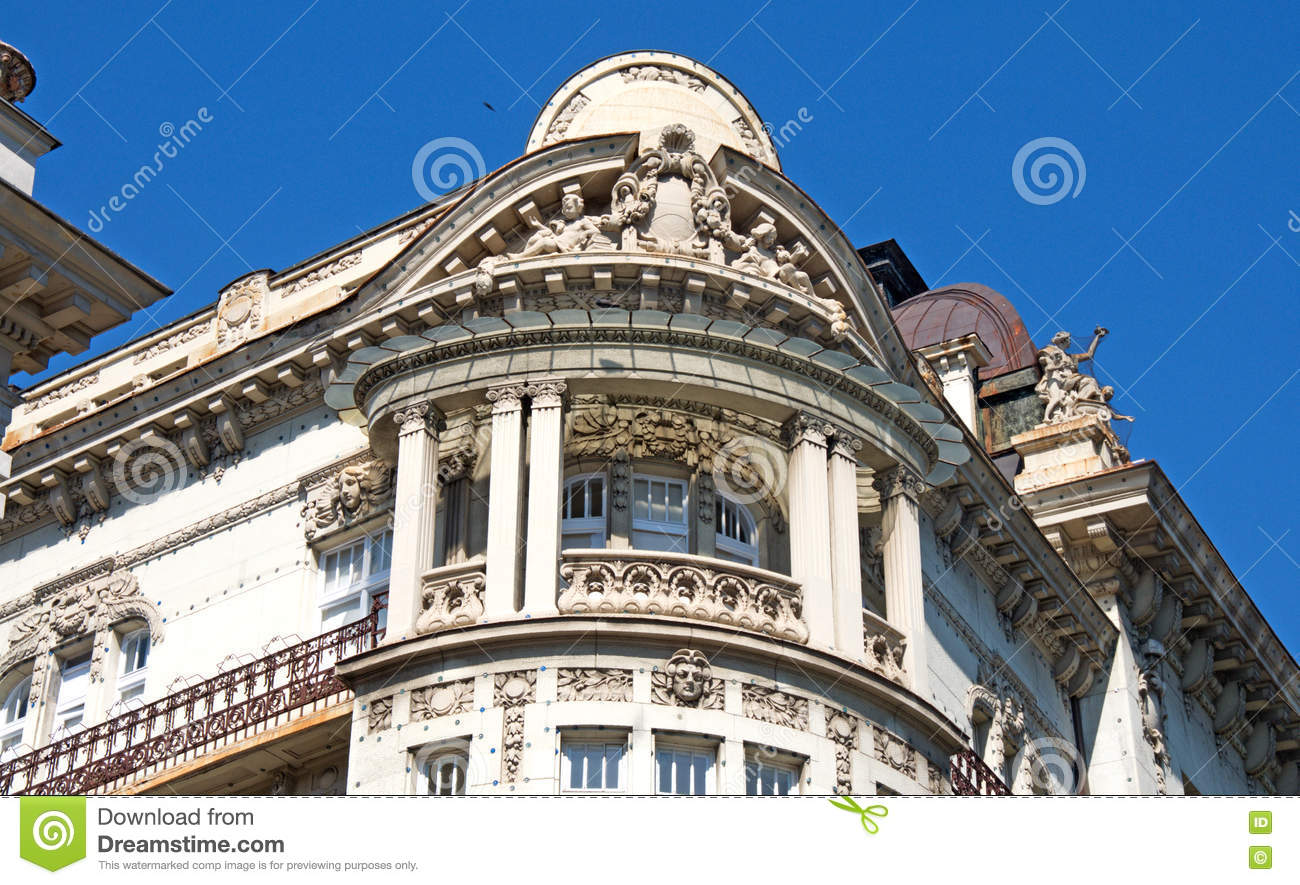 Representative architecture of Belgrade, Serbia
