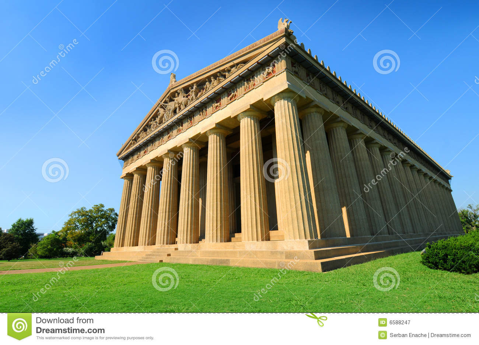 Reproducción del Parthenon griego