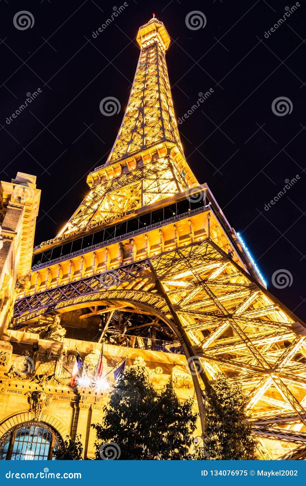 Reproduction de Tour Eiffel de Las Vegas